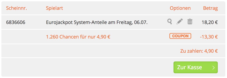 Eurojackpot Systemschein Galerie 1